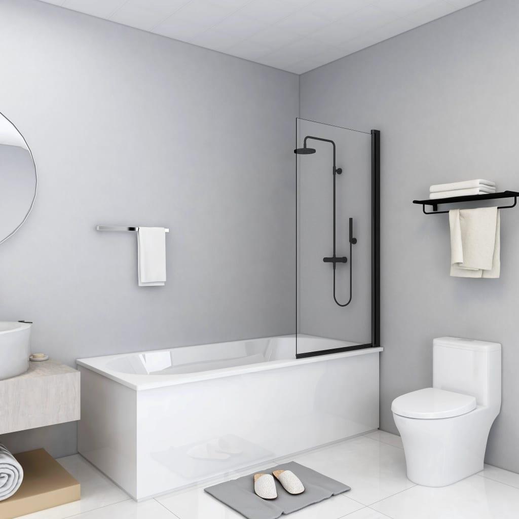 vidaXL Cabină de duș, negru, 68 x 130 cm, ESG vidaxl.ro
