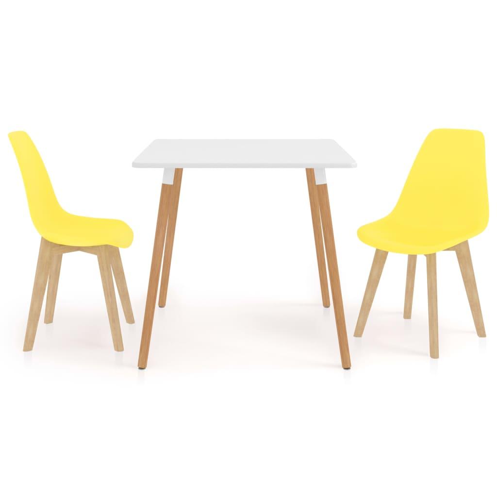 3dílný jídelní set žlutý