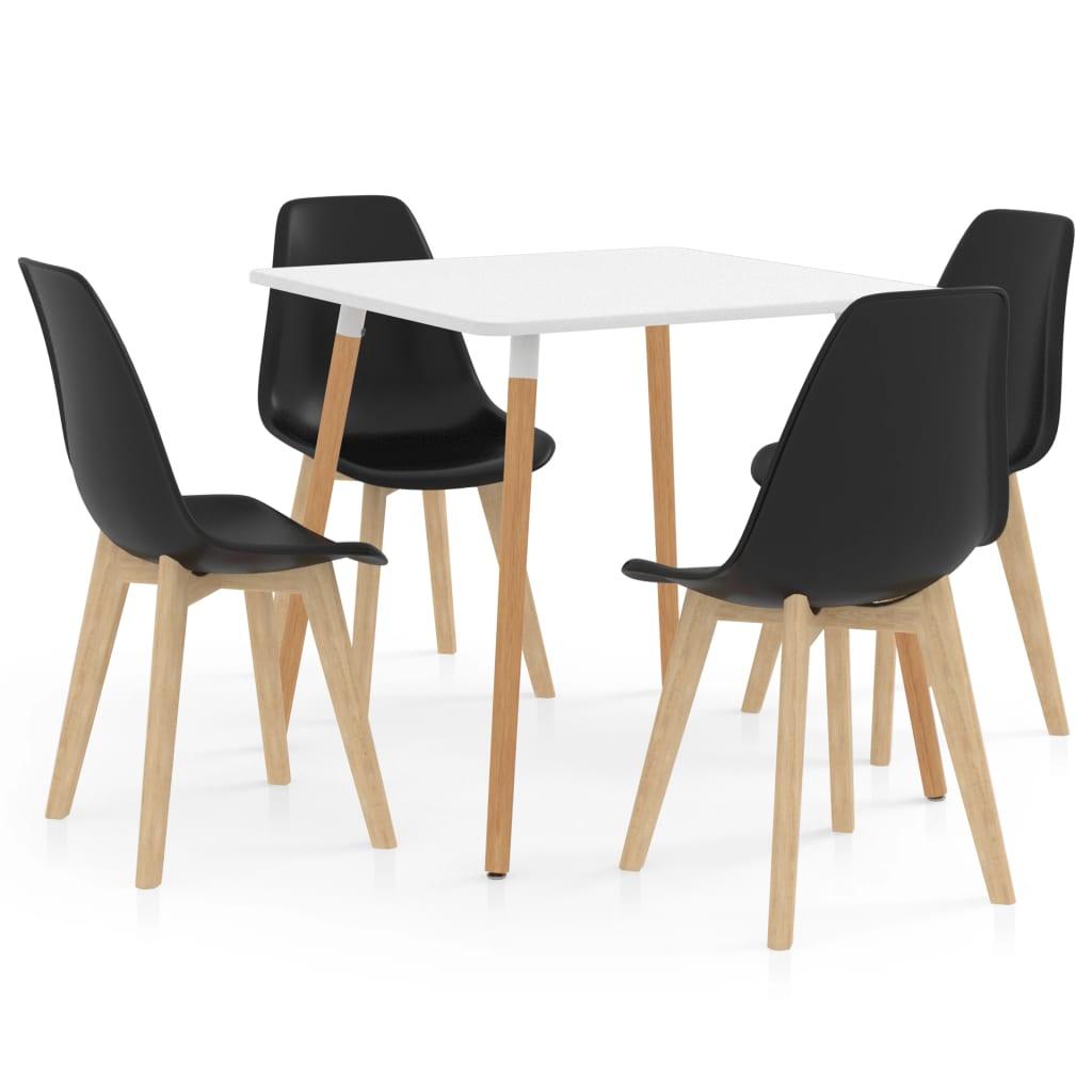 vidaXL Set mobilier de bucătărie, 5 piese, negru poza vidaxl.ro