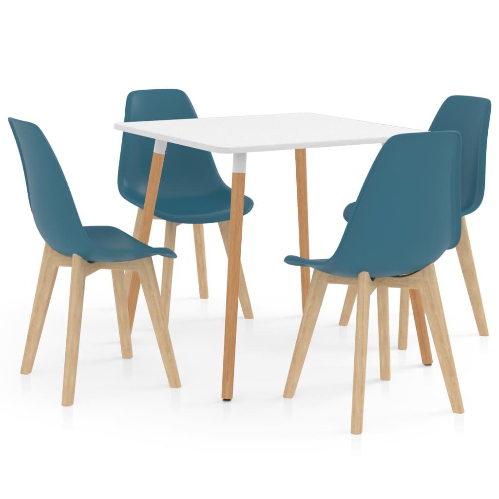vidaXL Set mobilier de bucătărie, 5 piese, turcoaz imagine vidaxl.ro