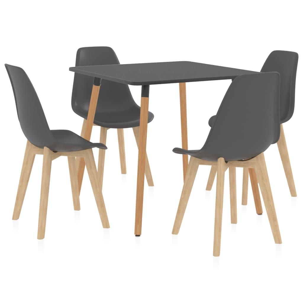 vidaXL Set mobilier de bucătărie, 5 piese, gri vidaxl.ro