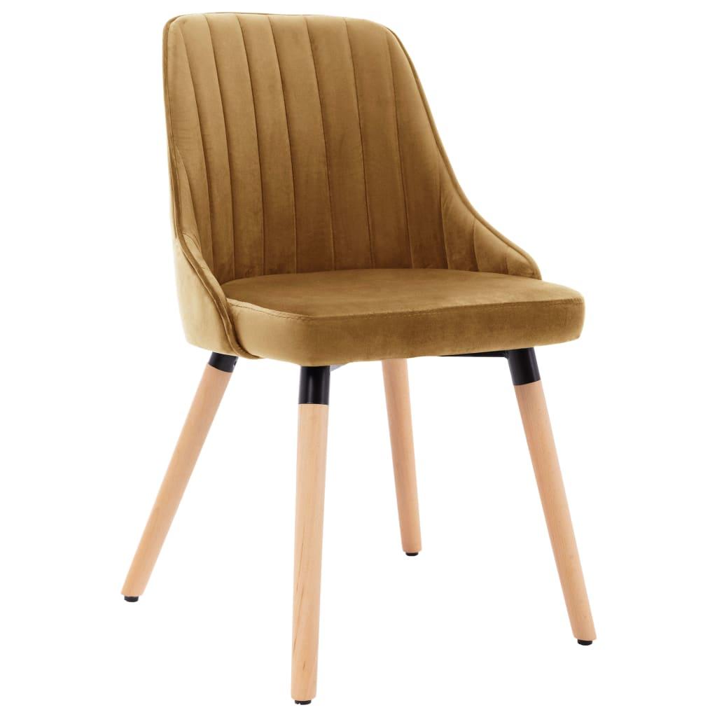 Eetkamerstoelen 2 st fluweel bruin