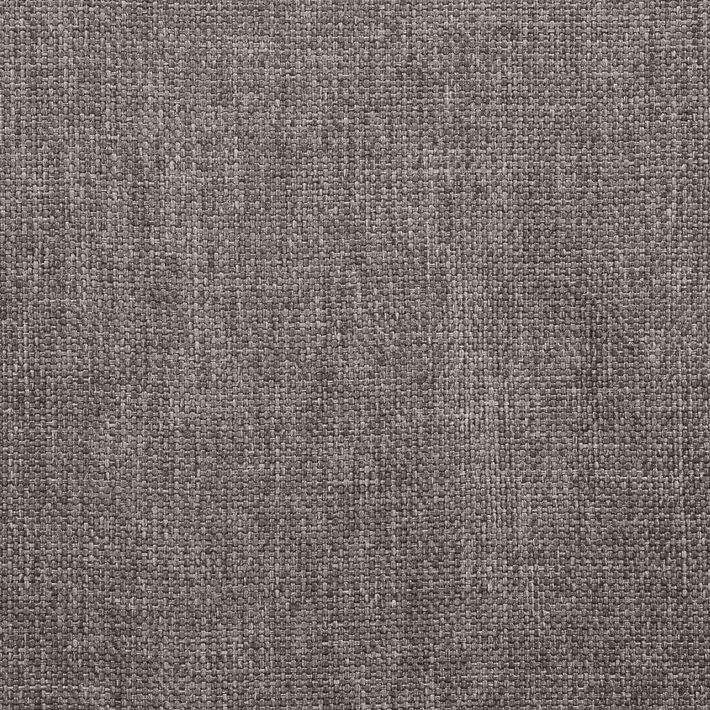vidaXL Eetkamerstoelen 2 st stof taupe