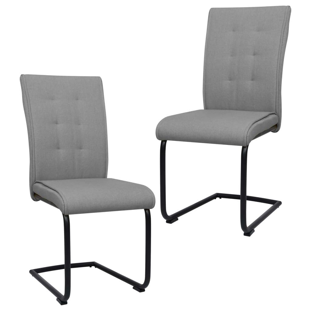 vidaXL Konzolne blagovaonske stolice od tkanine 2 kom svjetlosive