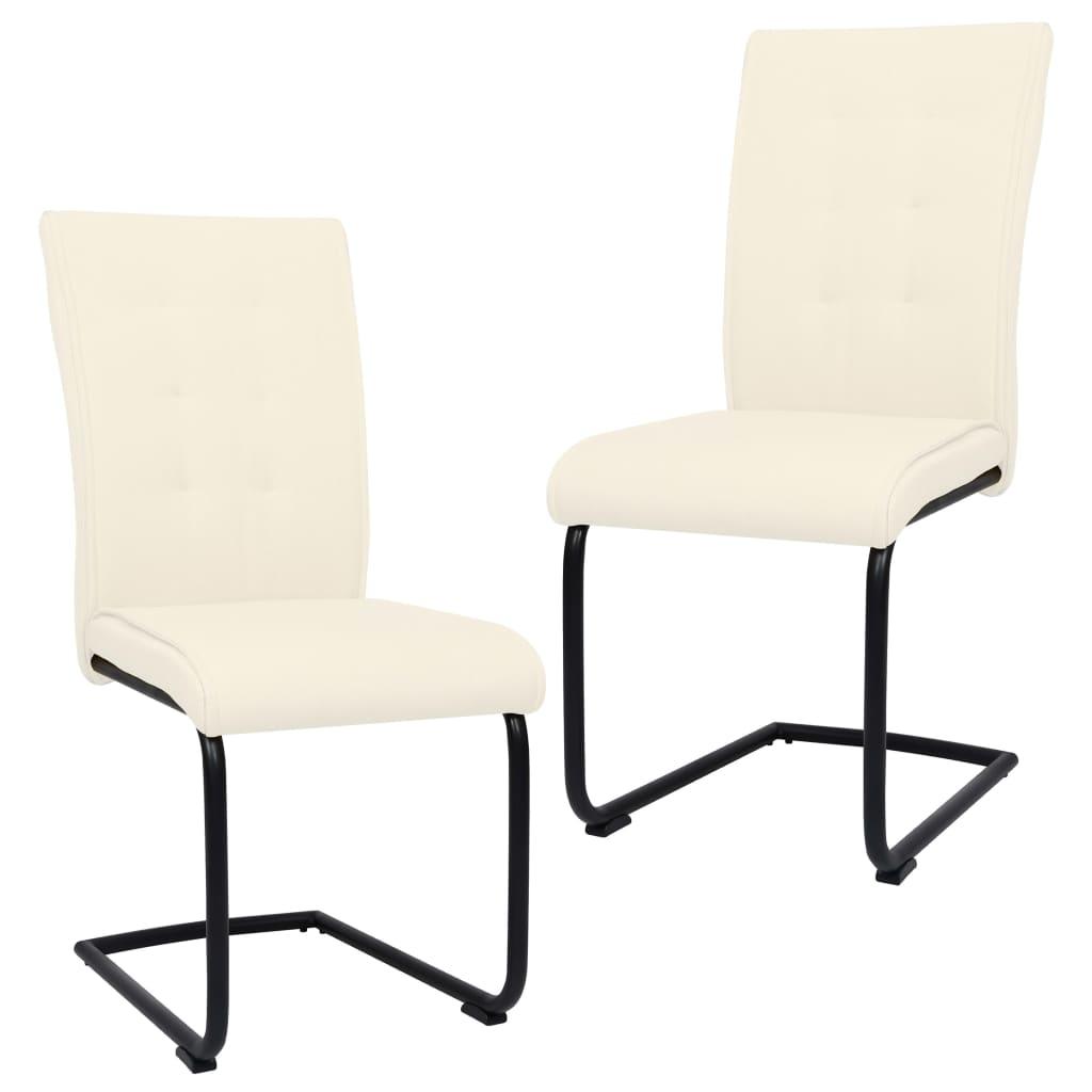 vidaXL Konzolne blagovaonske stolice od tkanine 2 kom krem