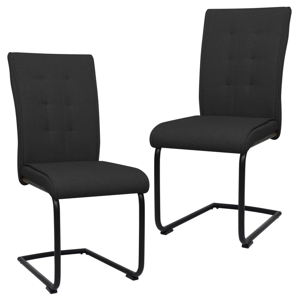 vidaXL Konzolne blagovaonske stolice od tkanine 2 kom crne