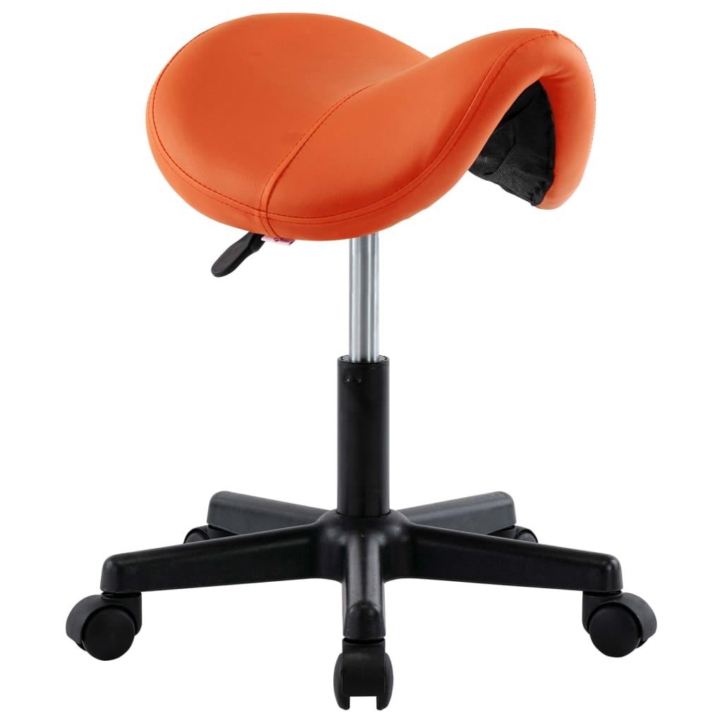 vidaXL Scaun de lucru, portocaliu, piele ecologică vidaxl.ro