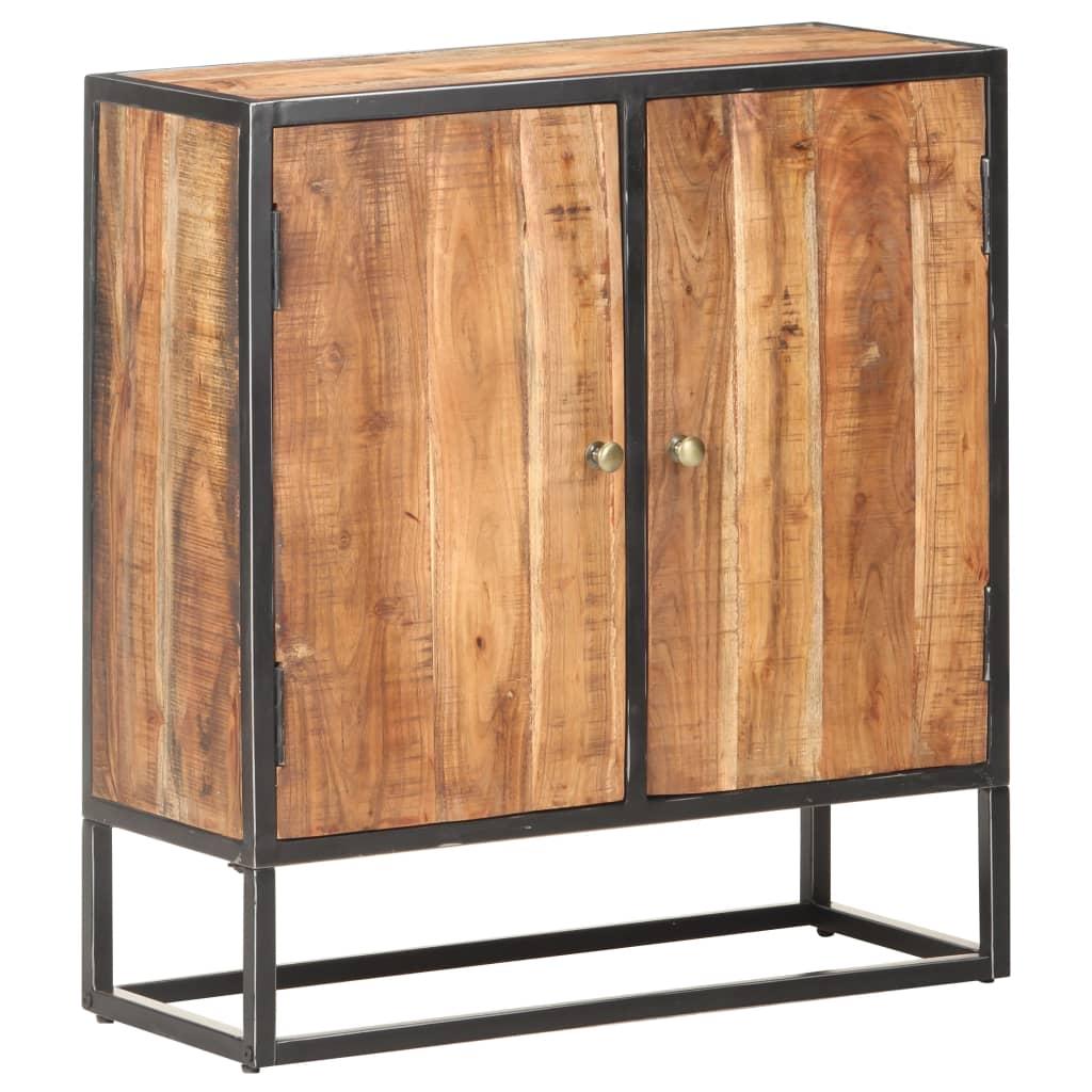 vidaXL Dressoir 70x30x75 cm ruw acaciahout