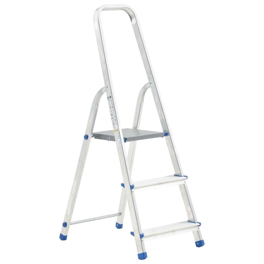 vidaXL Scară cu 3 trepte, 150 kg, aluminiu vidaxl.ro