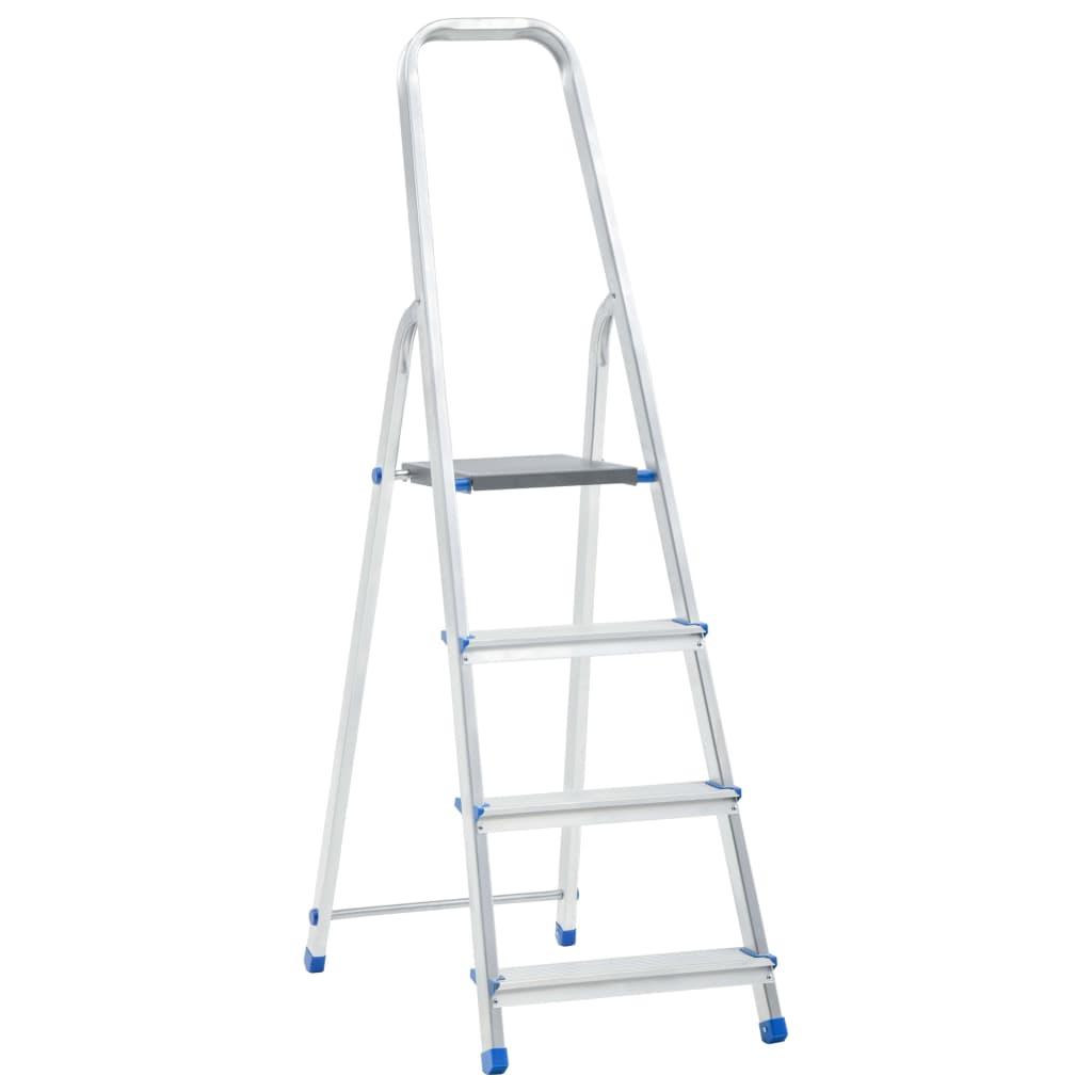 vidaXL Scară cu 4 trepte, 150 kg, aluminiu vidaxl.ro