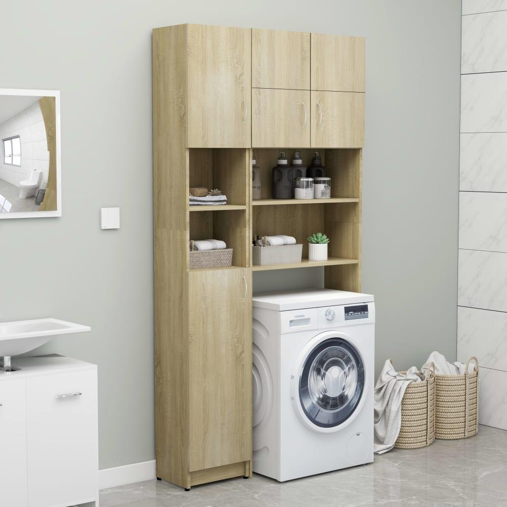vidaXL Set dulap mașina de spălat, stejar Sonoma, PAL vidaxl.ro