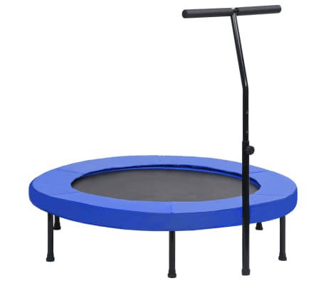 vidaXL Fitness Trampoline with Handle and Safety Pad 122 cm