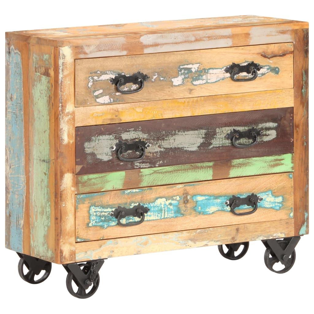 99321536 Sideboard 80 x 30 x 70 cm Recyceltes Massivholz