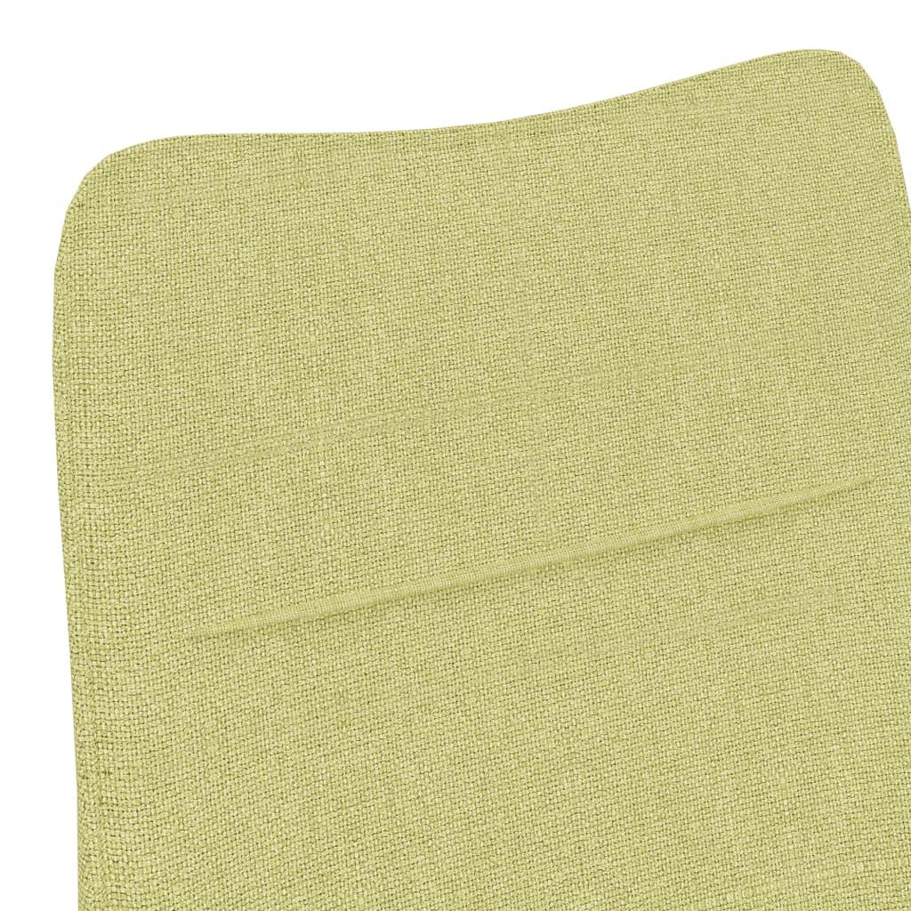Fauteuil met voetenbank stof groen
