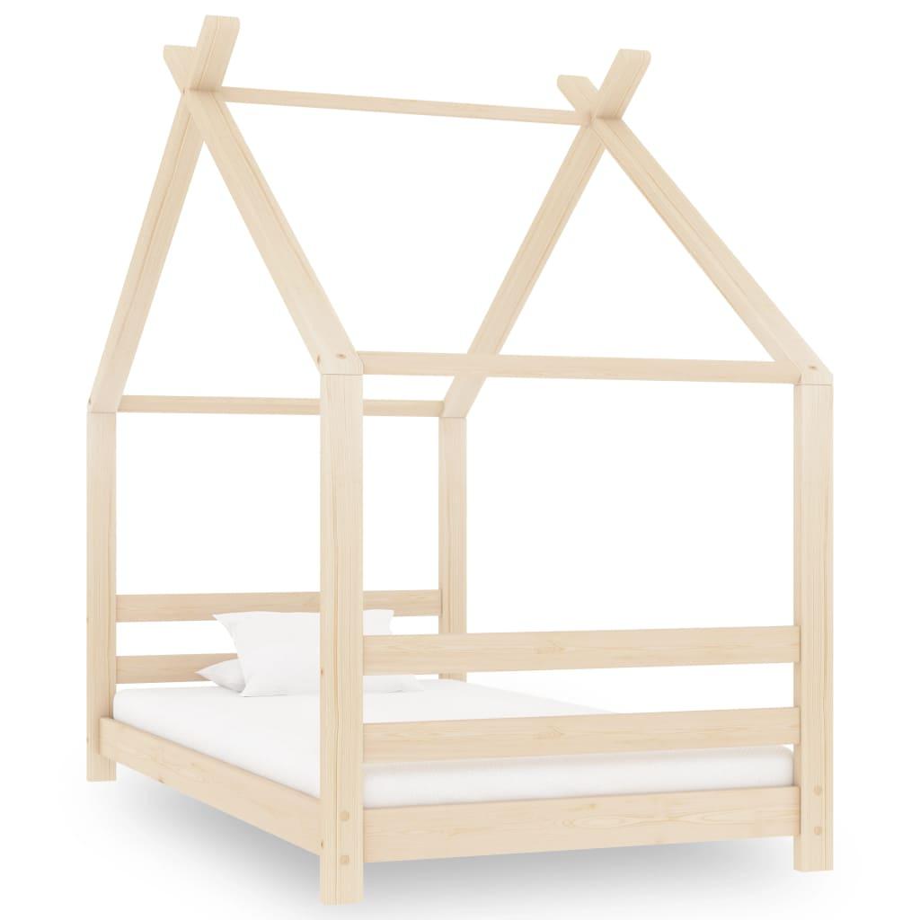 vidaXL Cadru de pat pentru copii, 80 x 160 cm, lemn masiv de pin imagine vidaxl.ro
