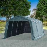 vidaXL Tendone Bestiame Rimovibile PVC 550 g/m² 3,3x6,4 m Verde Scuro