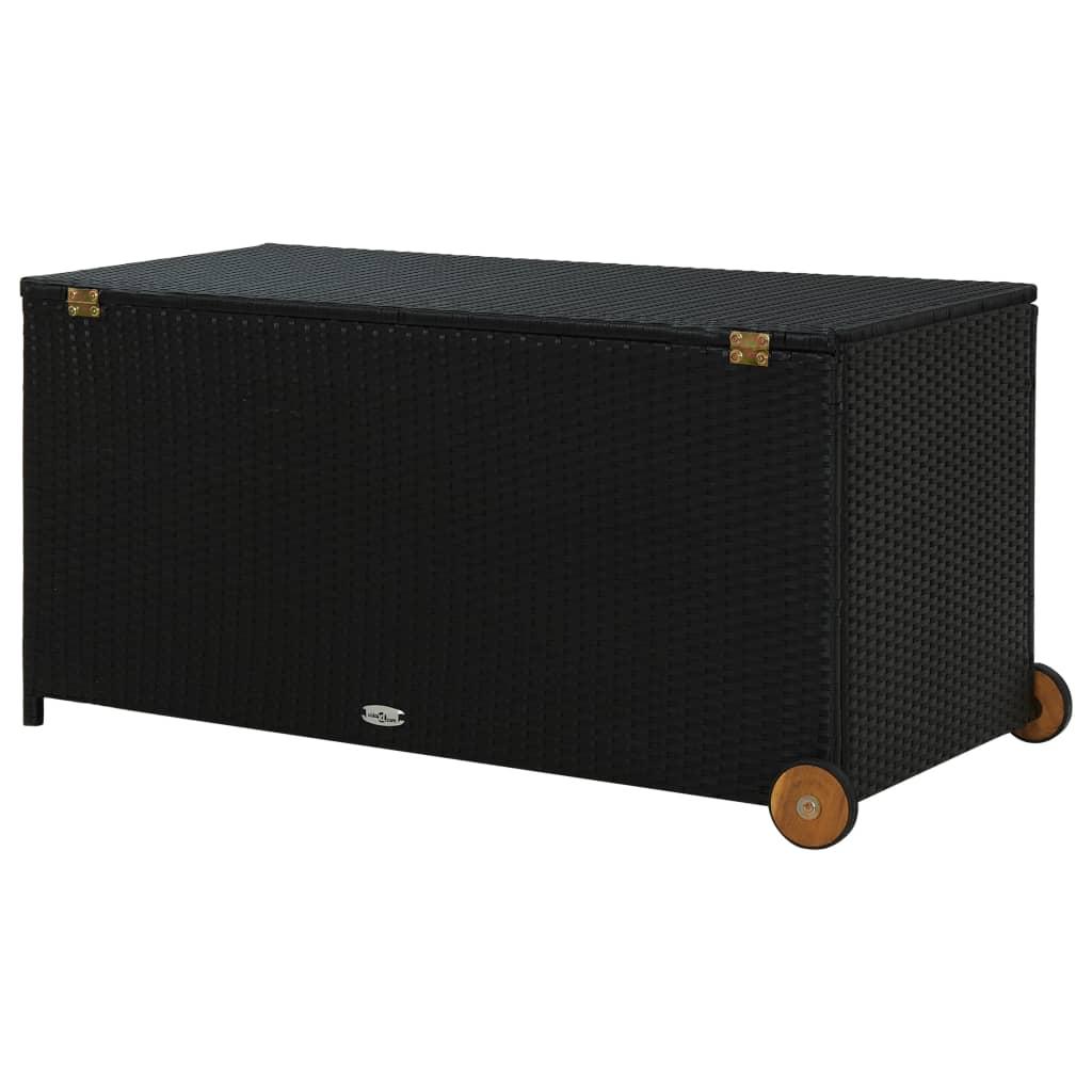 vidaXL Tuinbox 130x65x115 cm poly rattan zwart