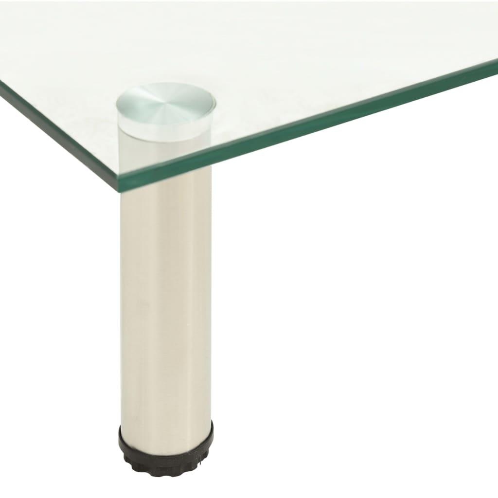 vidaXL Tv-meubel 60x35x17 cm gehard glas transparant