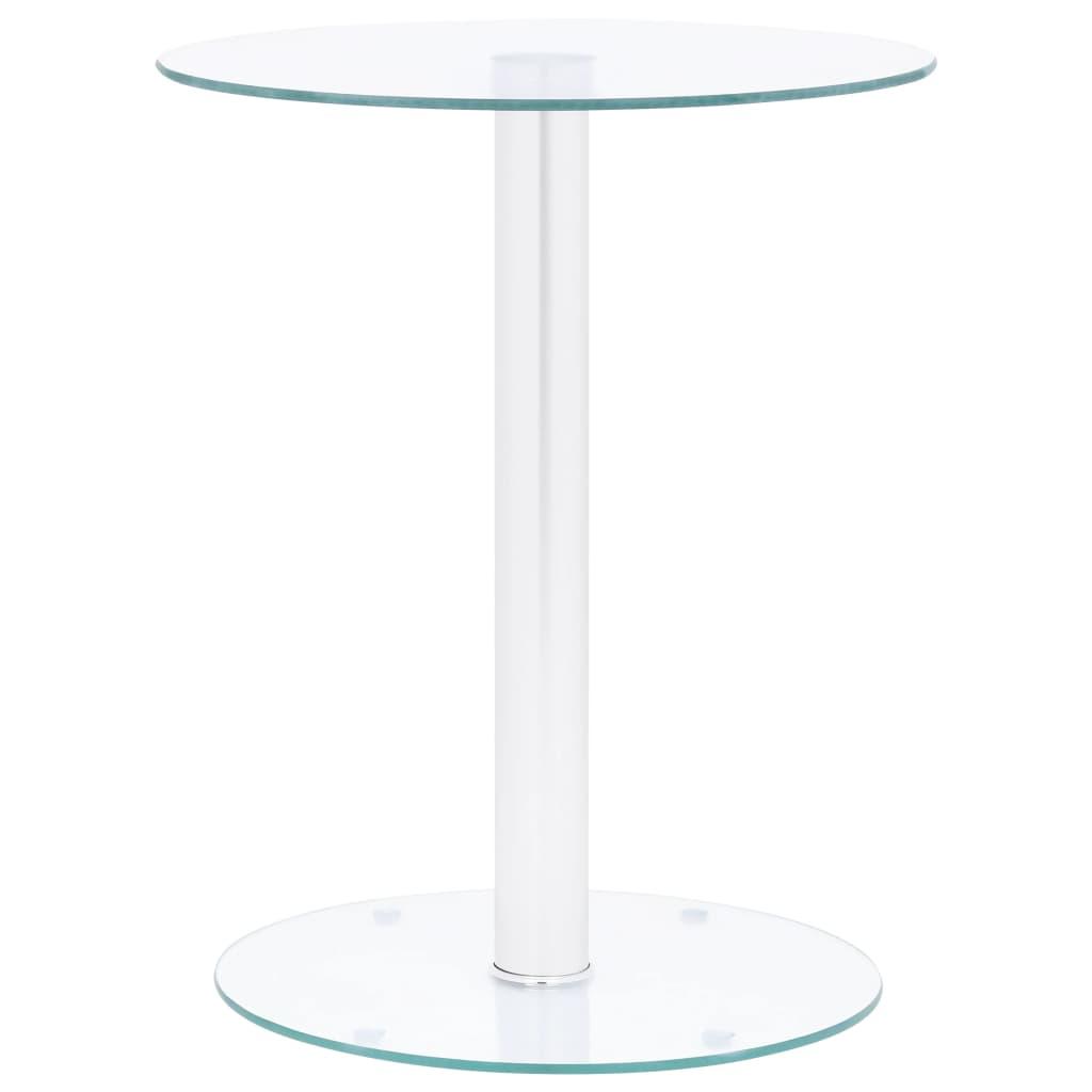 Konferenční stolek průhledný 40 cm tvrzené sklo