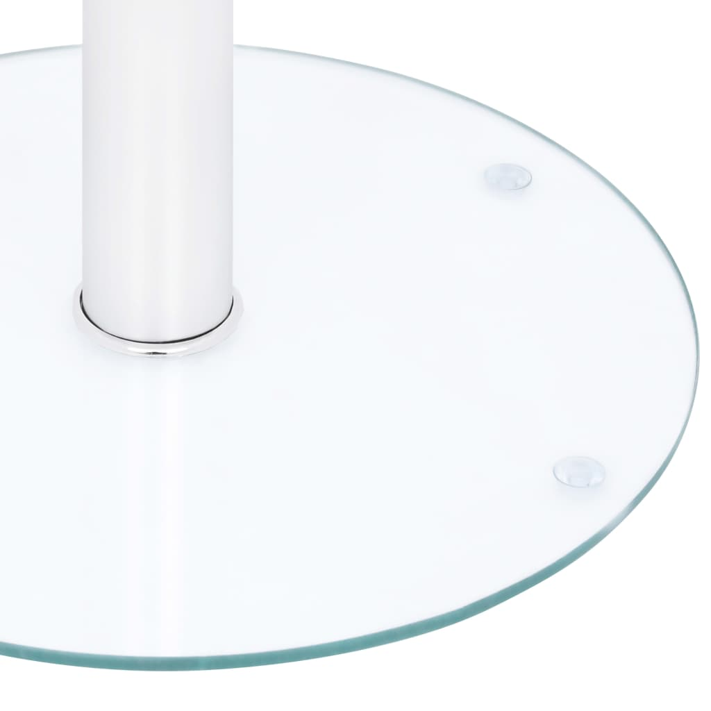 vidaXL Salontafel 40 cm gehard glas transparant