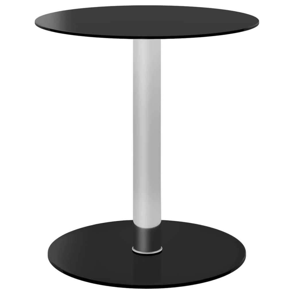 Konferenční stolek černý 40 cm tvrzené sklo