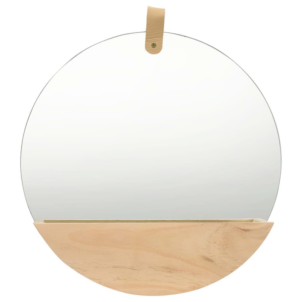 Nástěnné zrcadlo masivní borovice 35 cm