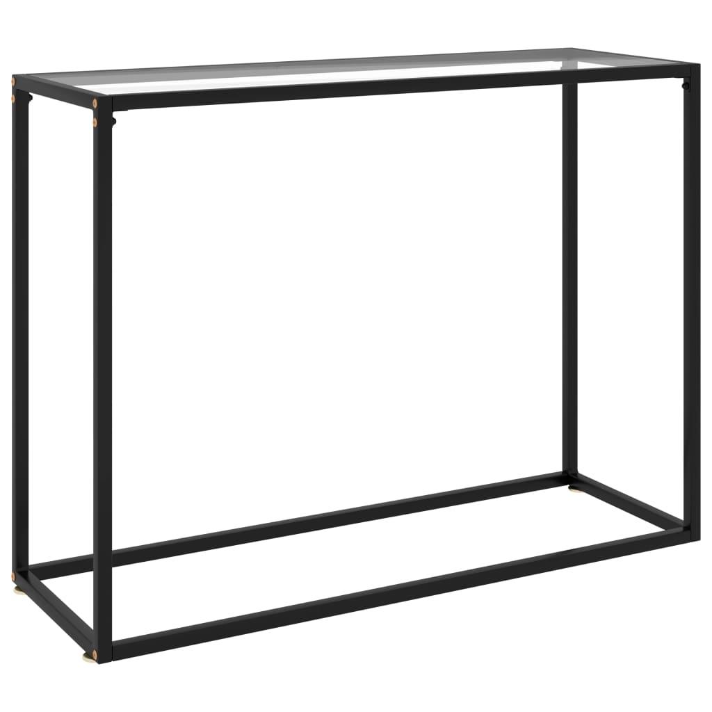 Konsoollaud, läbipaistev, 100 x 35 x 75 cm, kara..