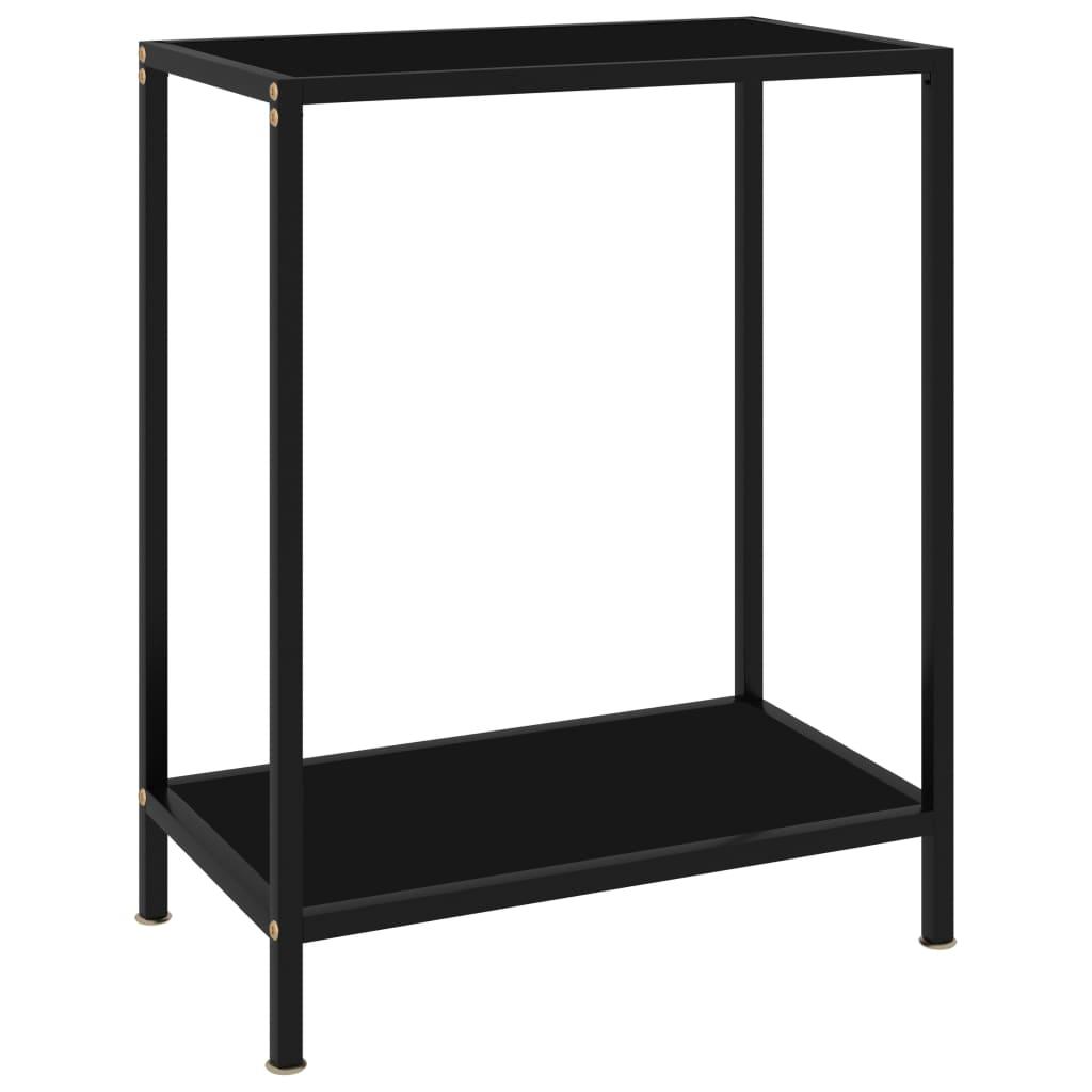 vidaXL Masă consolă, negru, 60 x 35 x 75 cm, sticlă securizată poza 2021 vidaXL
