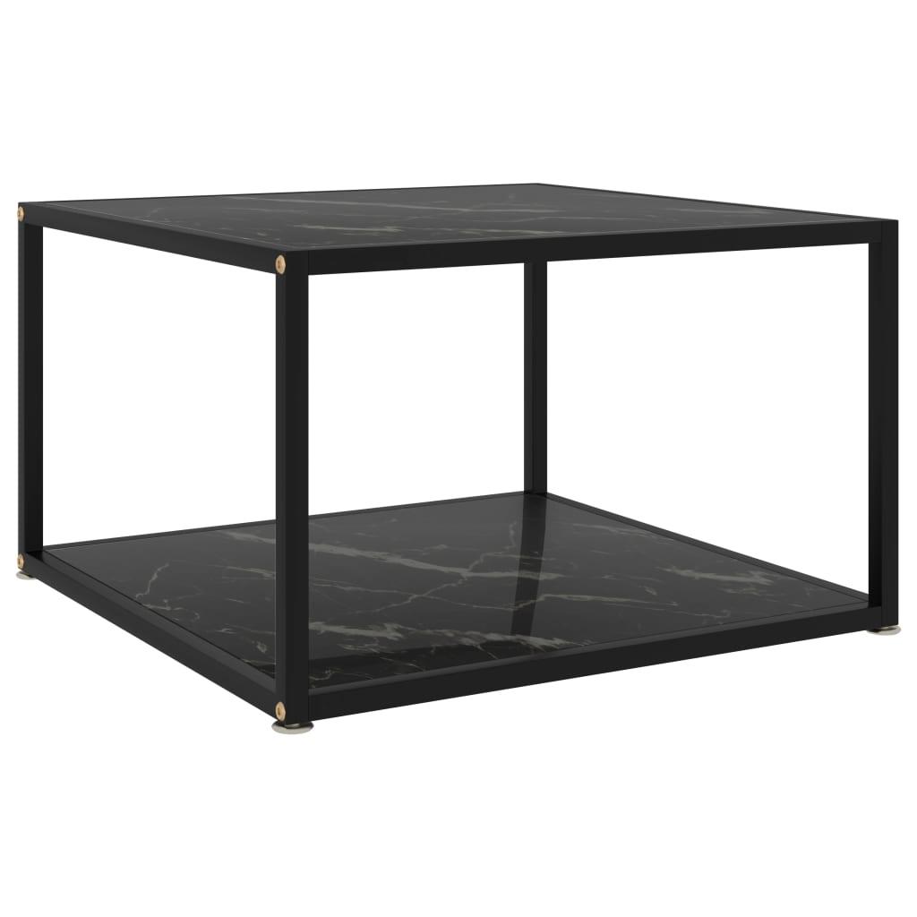 vidaXL Masă de ceai, negru, 60 x 60 x 35 cm, sticlă securizată imagine vidaxl.ro