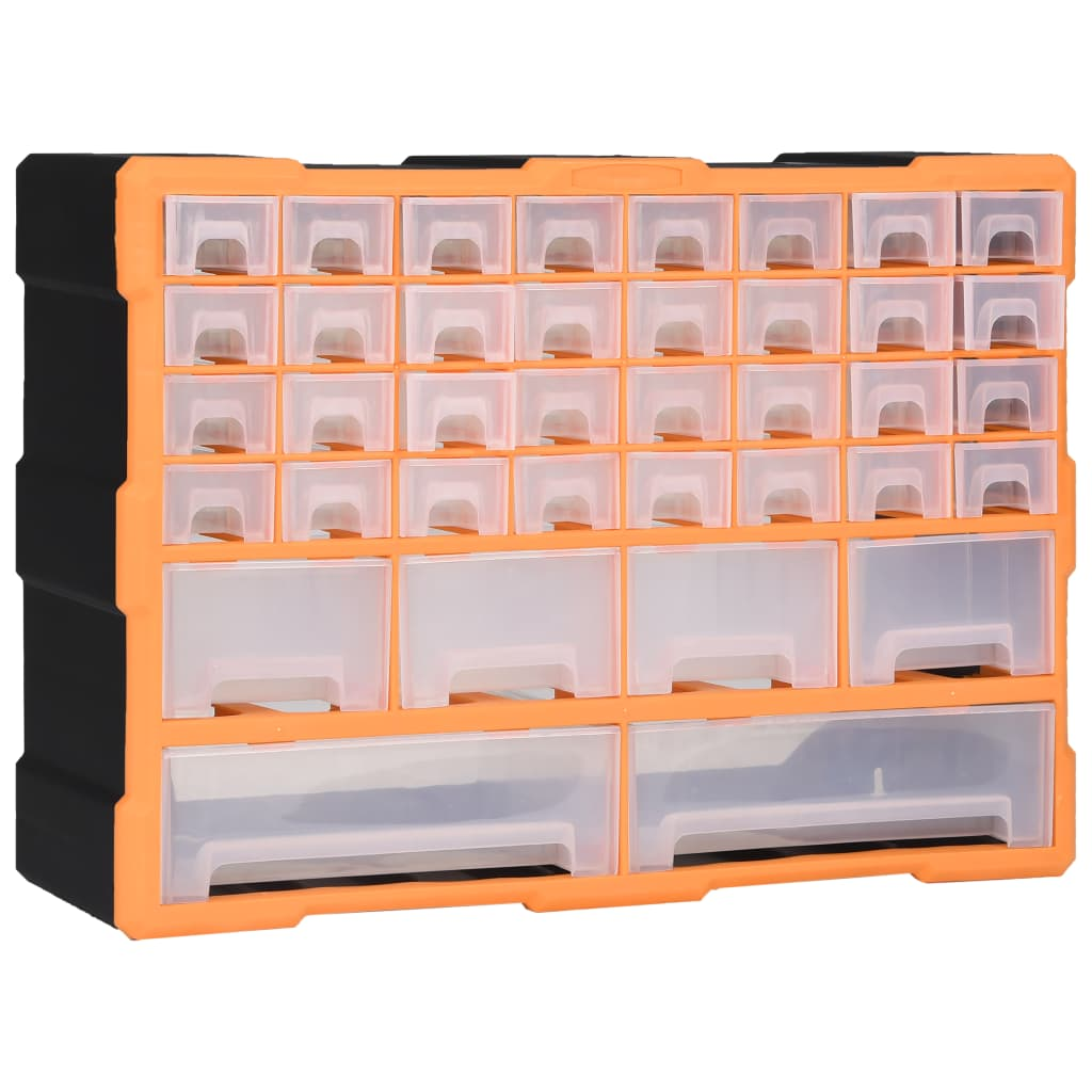 vidaXL Organizator cu 40 de sertare, 52 x 16 x 37,5 cm poza vidaxl.ro