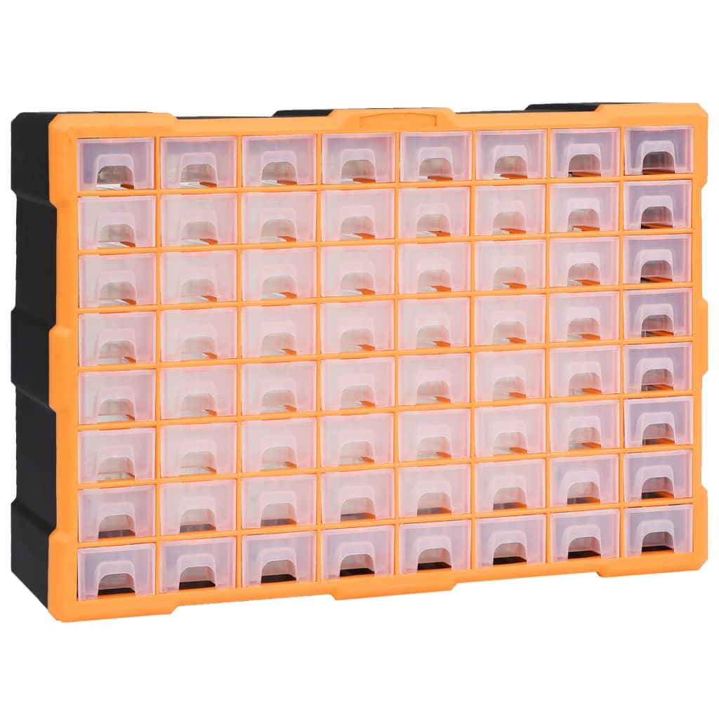 vidaXL Organizator cu 64 de sertare, 52 x 16 x 37,5 cm poza vidaxl.ro