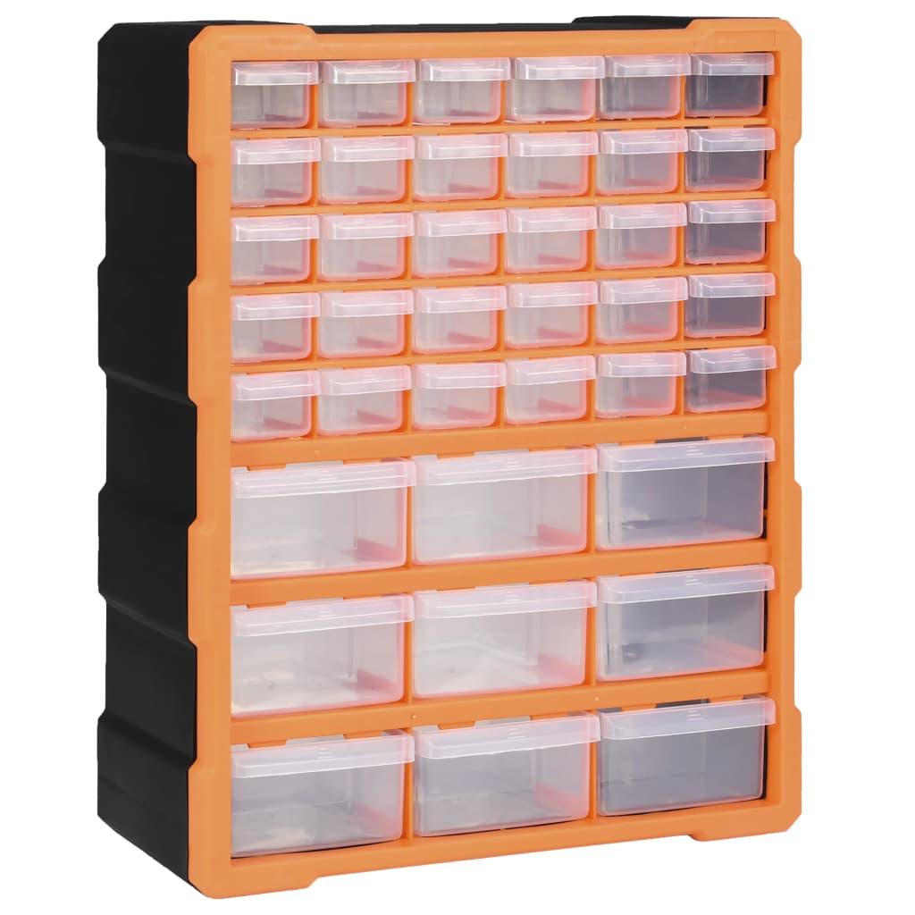 vidaXL Organizator cu 39 de sertare, 38 x 16 x 47 cm poza 2021 vidaXL