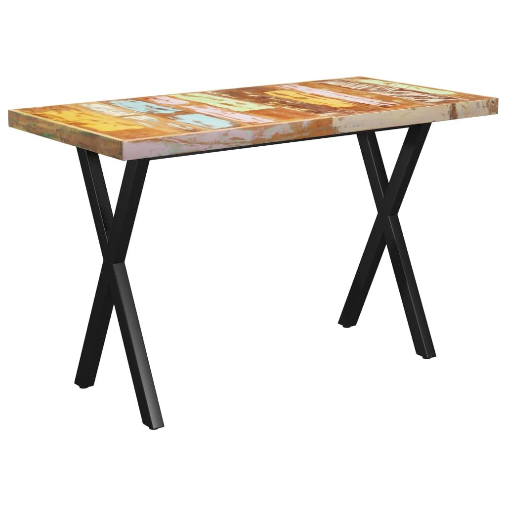 vidaXL Masă picioare în formă de X, 140x70x77 cm lemn masiv reciclat vidaxl.ro