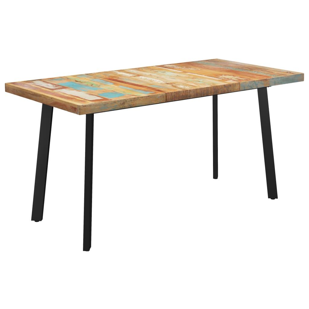 vidaXL Masă picioare în formă de V, 180x90x77 cm, lemn masiv reciclat vidaxl.ro