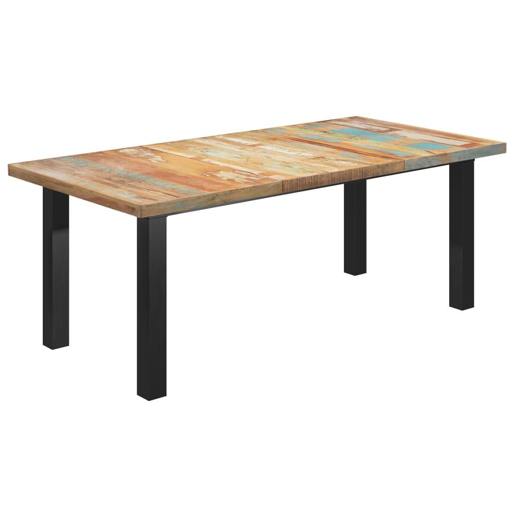vidaXL Masă picioare formă de I, 200x100x77 cm, lemn masiv reciclat poza vidaxl.ro