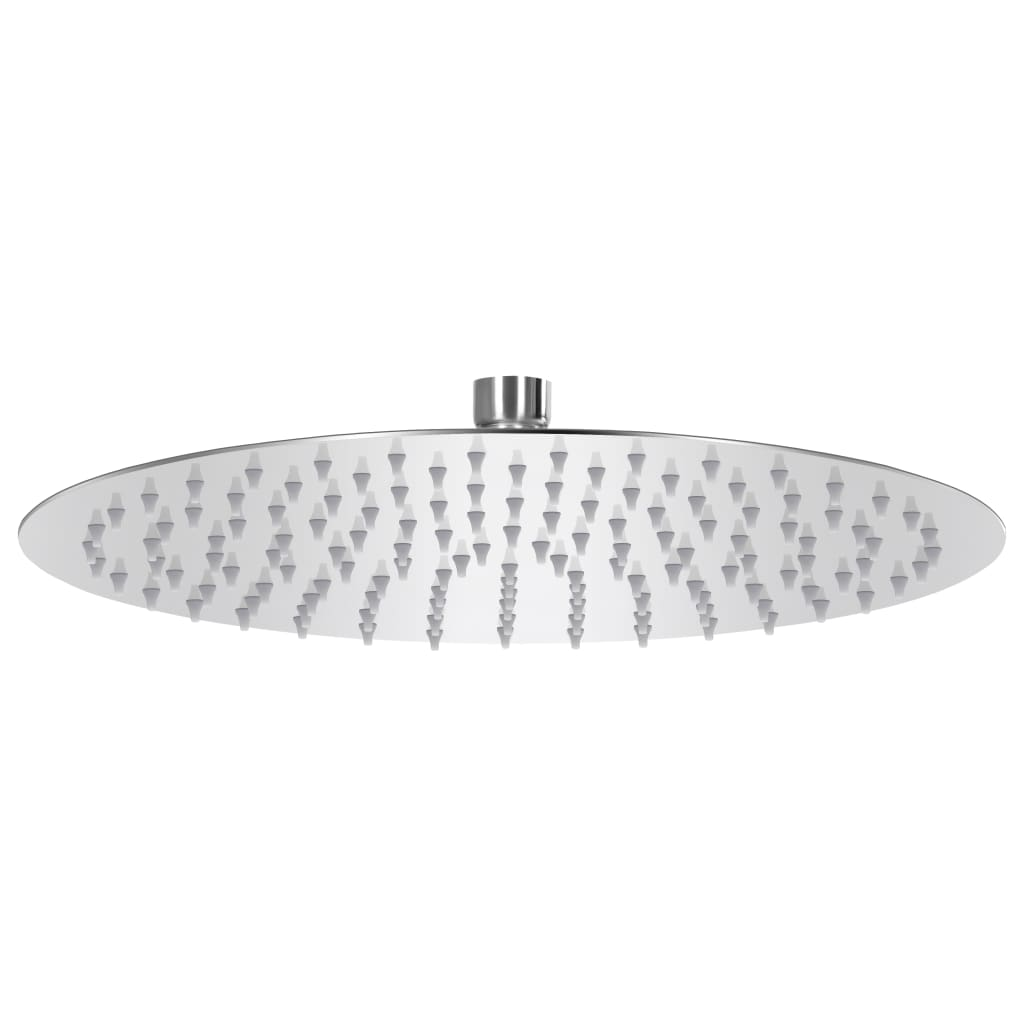 vidaXL Cap de duș tip ploaie rotund, 30 cm, oțel inoxidabil 304 poza vidaxl.ro