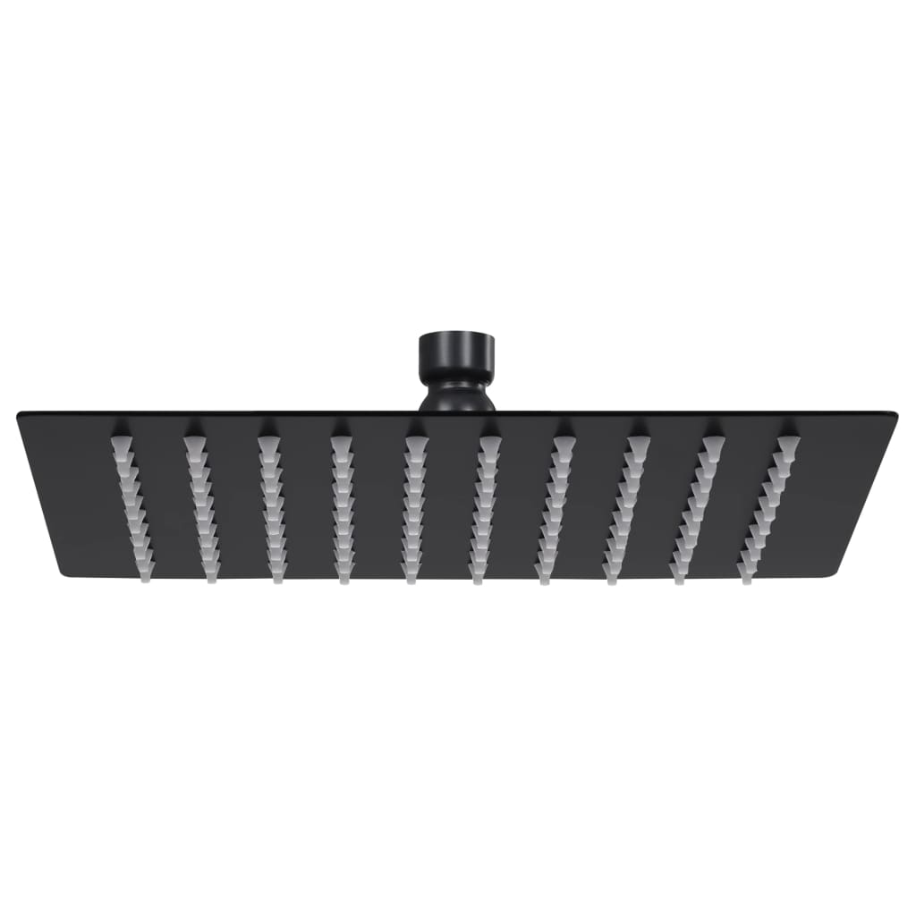 vidaXL Cap de duș tip ploaie pătrat, negru, 20x20 cm, oțel inoxidabil poza vidaxl.ro