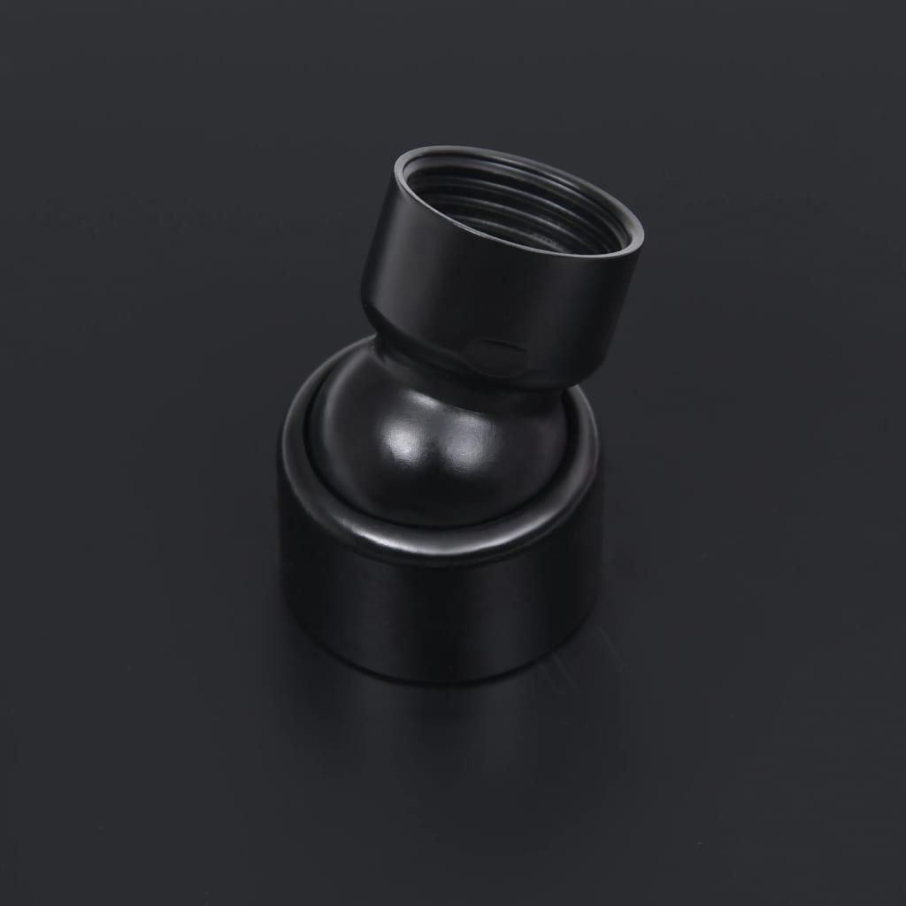 vidaXL Regendouchekop vierkant 30x30 cm roestvrij staal zwart