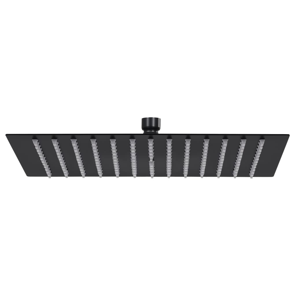 vidaXL Cap de duș tip ploaie pătrat, negru, 40x40 cm, oțel inoxidabil poza vidaxl.ro