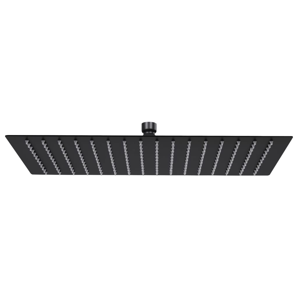 vidaXL Cap duș ploaie dreptunghiular, negru, 40x30 cm, oțel inoxidabil poza vidaxl.ro