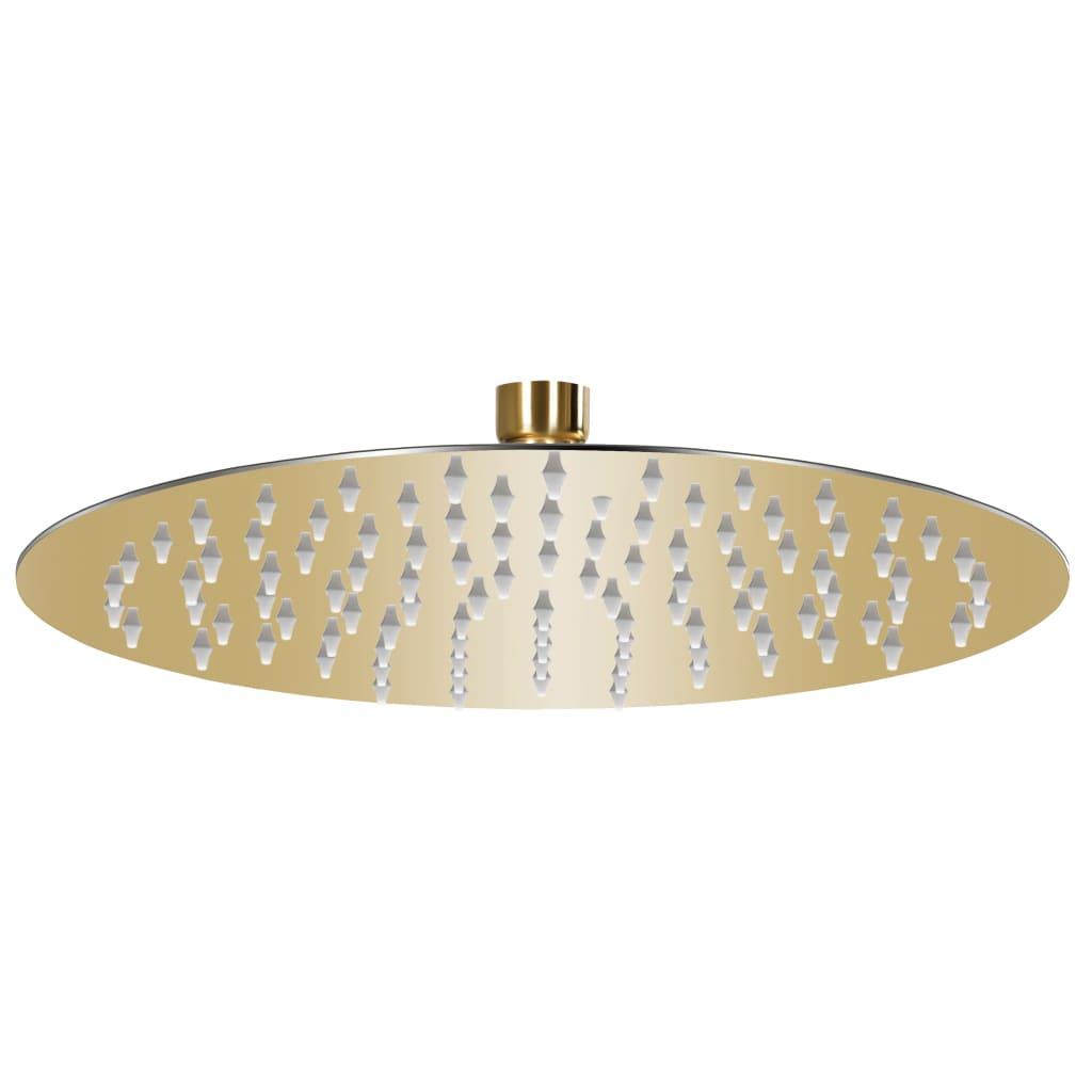 vidaXL Cap de duș rotund tip ploaie, auriu, 25 cm, oțel inoxidabil vidaxl.ro