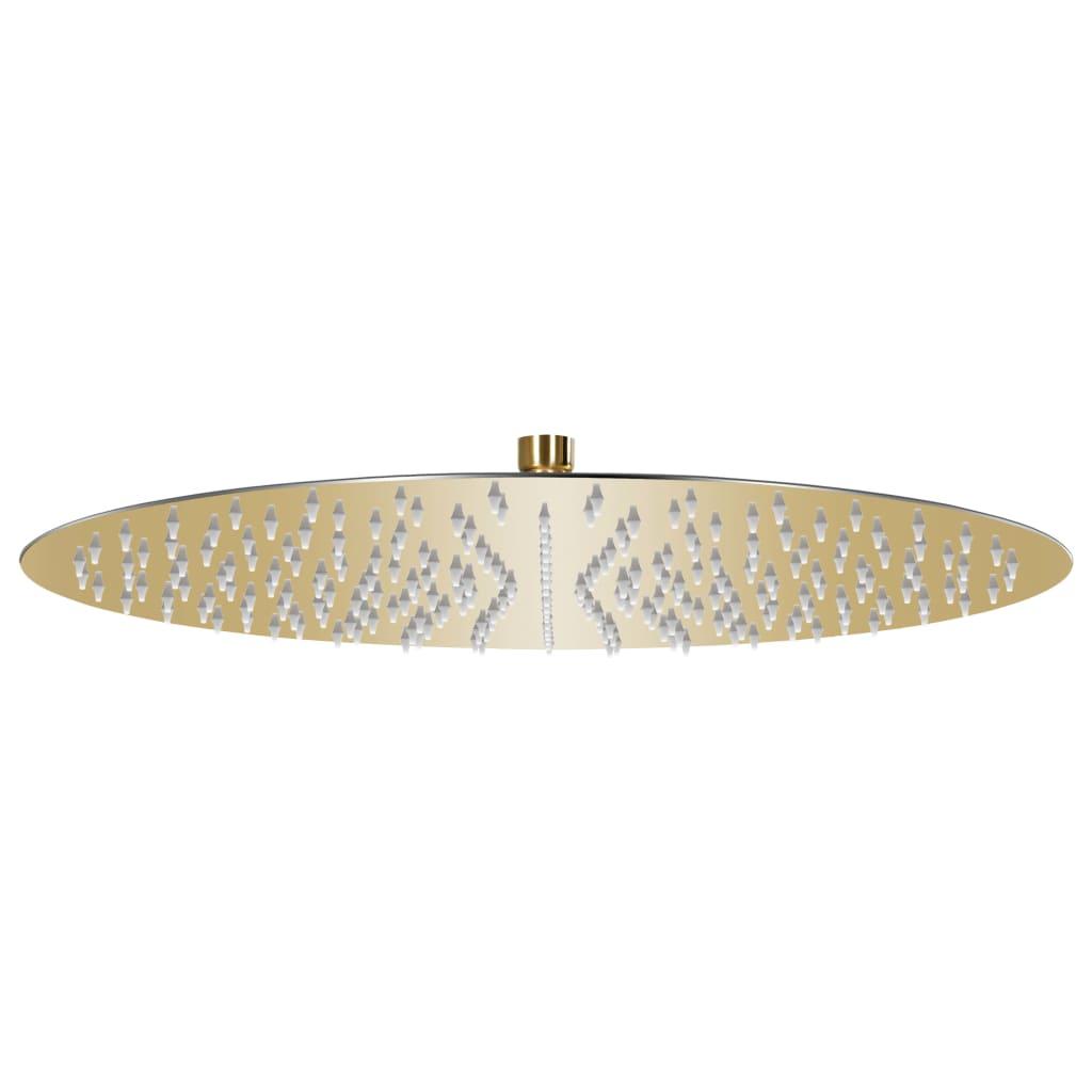 vidaXL Cap de duș tip ploaie rotund, auriu, 40 cm, oțel inoxidabil vidaxl.ro
