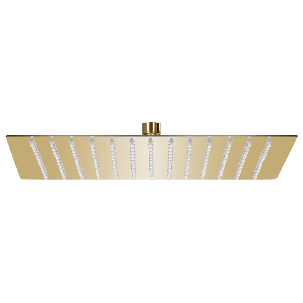 vidaXL Cap de duș tip ploaie pătrat, auriu, 30x30 cm, oțel inoxidabil poza vidaxl.ro
