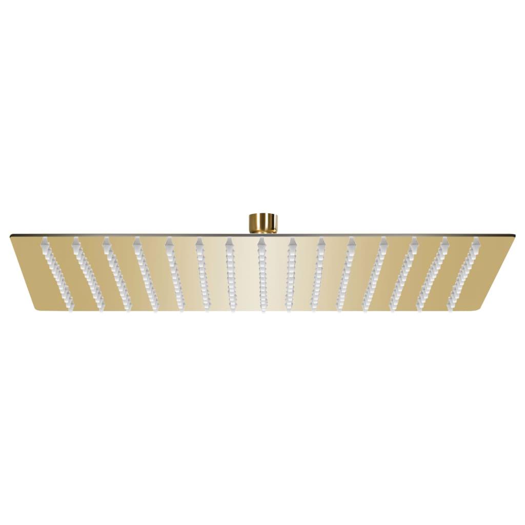 vidaXL Cap de duș tip ploaie pătrat, auriu 40 x 40 cm oțel inoxidabil vidaxl.ro