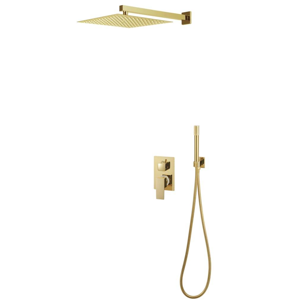 vidaXL Sistem de duș, auriu, oțel inoxidabil 201 vidaxl.ro