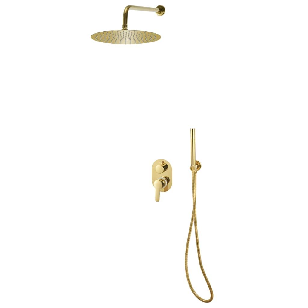 vidaXL Sistem de duș, auriu, oțel inoxidabil 201 poza 2021 vidaXL