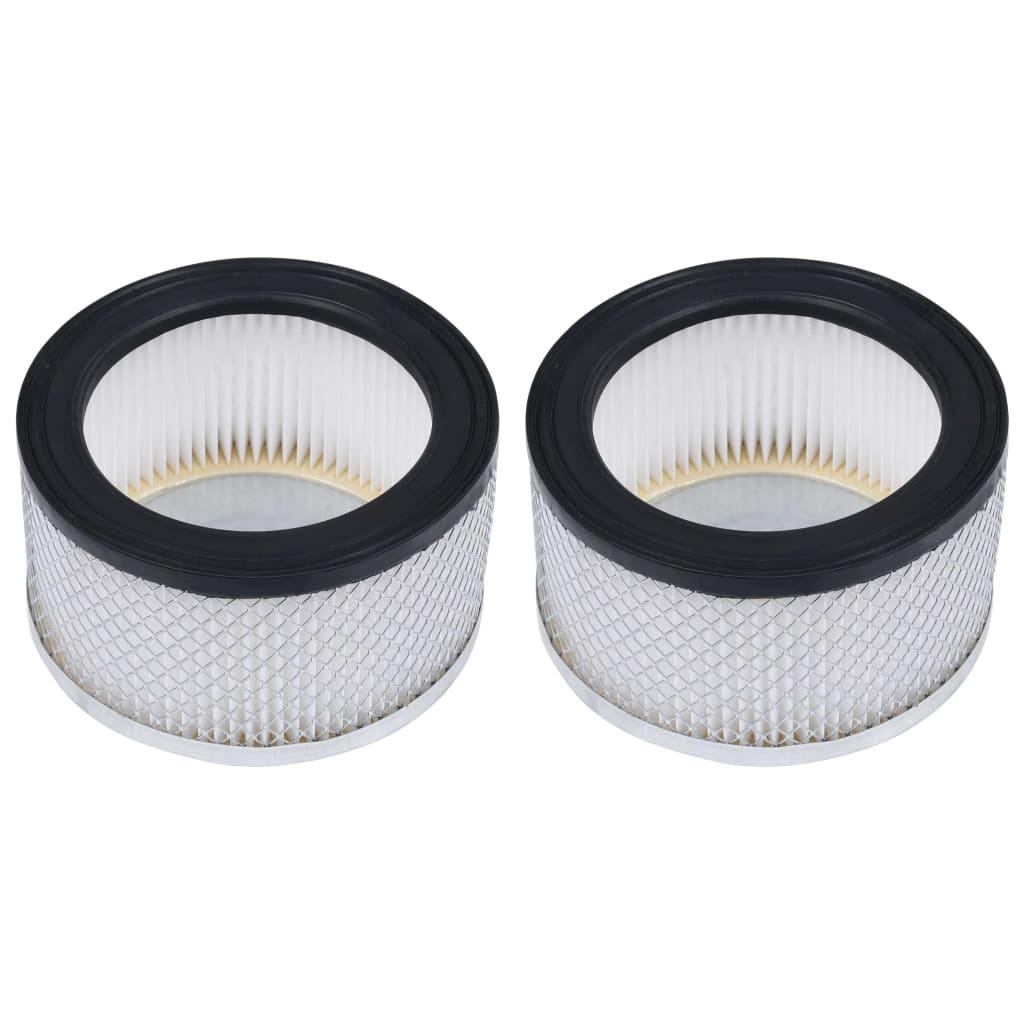 vidaXL Filtre HEPA pentru aspirator de cenușă, 2 buc., lavabile imagine vidaxl.ro
