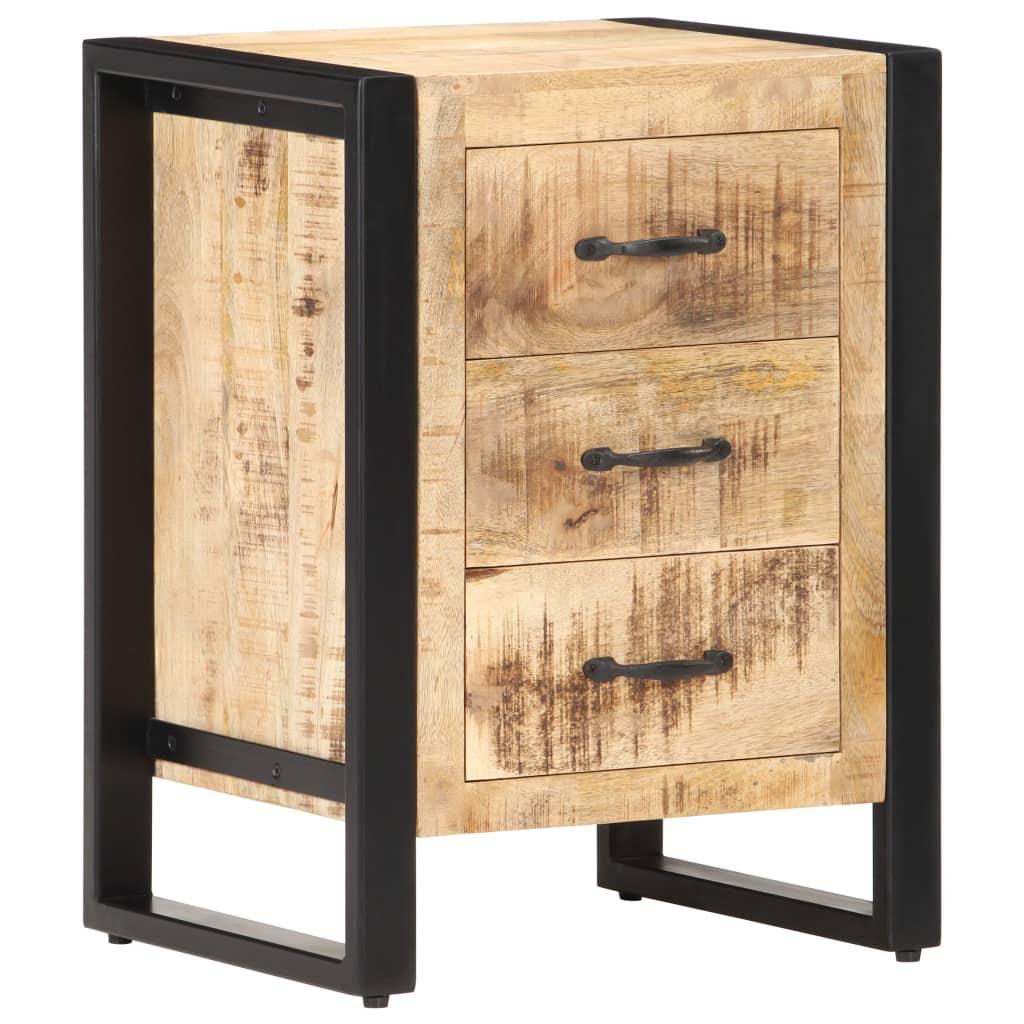 vidaXL Noptieră, 40 x 35 x 55 cm, lemn masiv de mango poza vidaxl.ro