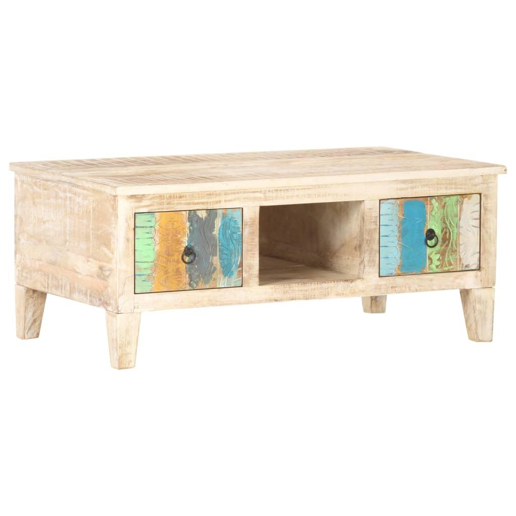 vidaXL Măsuță de cafea, 100 x 55 x 40 cm, lemn de acacia nefinisat poza vidaxl.ro
