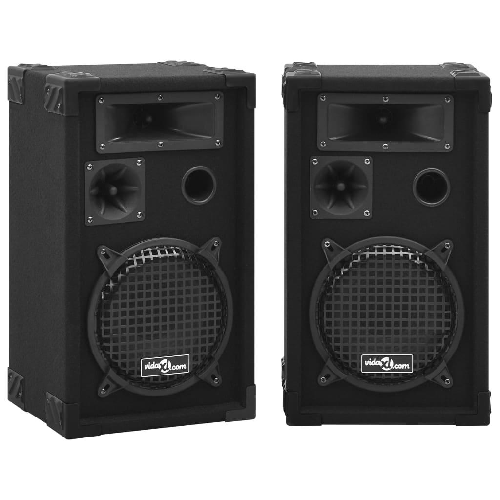 vidaXL Boxe Hifi pasive de scenă profesionale, 2 buc., negru, 800 W poza 2021 vidaXL